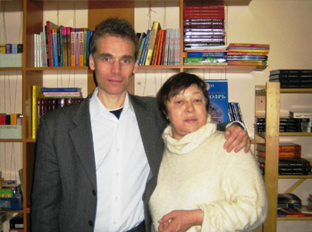 With Gala Strachuk, president of the C.S.A., 2001